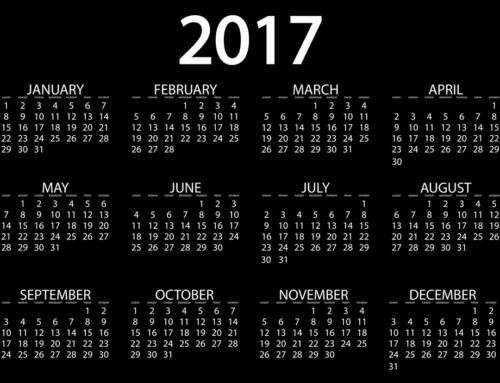 Terminvorschau für 2017