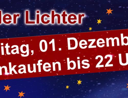 Nacht der Lichter Late Night Shopping am 1. Dezember