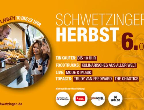 Schwetzinger Herbst trifft Streetfood am 6. Oktober 2018